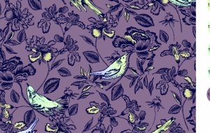 8940/L65 Birds & Flowers